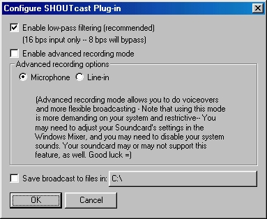 Рис 2.Окно Configure SHOUTcast Plug-in.JPG (80158 bytes)