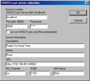 Рис 5.Окно Shoutcast server selection.JPG (66545 bytes)